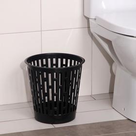 Корзина для мусора Альтернатива «Эконом», 9 л, цвет чёрный Ош