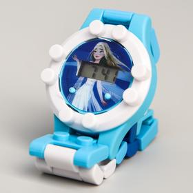 Часы наручные электронные 'Эльза ', Холодное сердце - 2, с ремешком-конструктором Ош