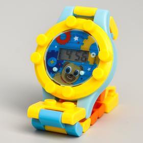 Часы наручные электронные 'Ролли ', Дружные Мопсы, с ремешком-конструктором Ош