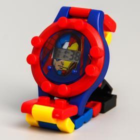 Часы наручные электронные 'Супергерои', Мстители, с ремешком-конструктором Ош