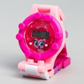 Часы наручные электронные 'Пинки Пай', My Little Pony, с ремешком-конструктором Ош