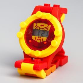 Часы наручные электронные 'Трансформеры', Transformers, с ремешком-конструктором Ош
