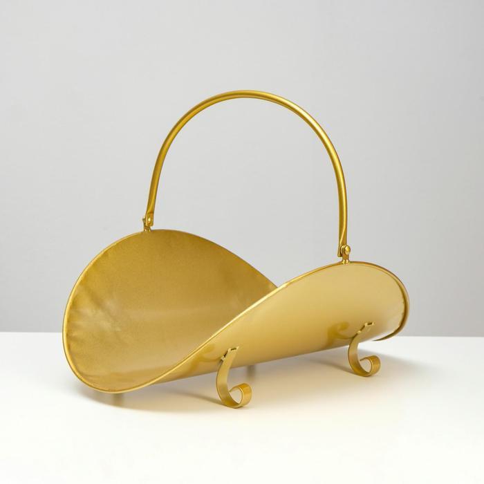 Дровница 4930см, цвет золото