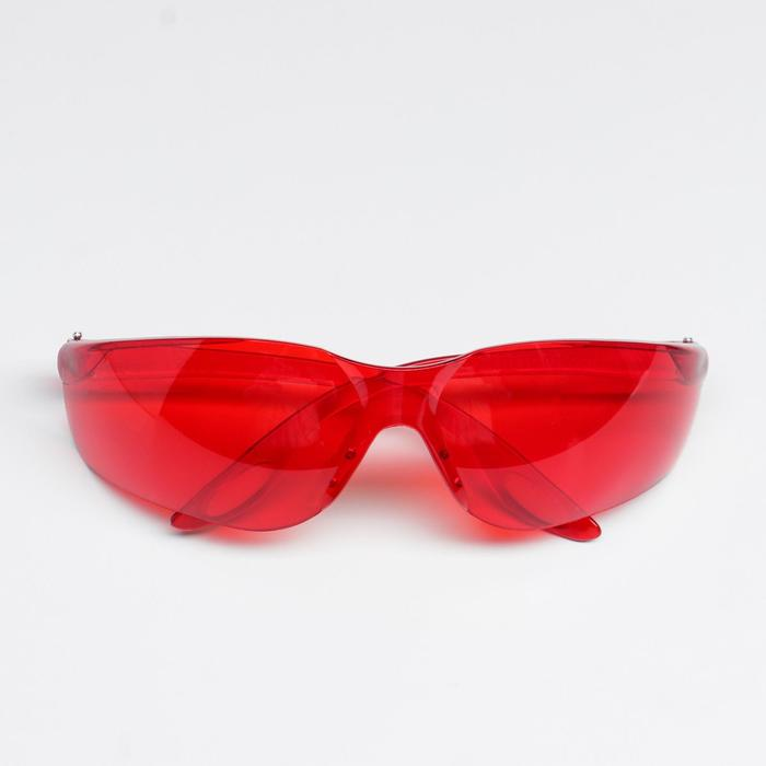 Защитные очки открытого типа красные
