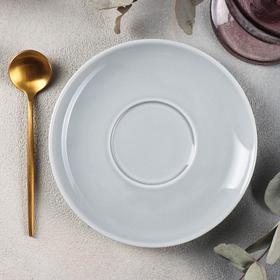 Блюдце Башкирский фарфор Принц «Акварель», d=14,5 см, цвет светло-серый