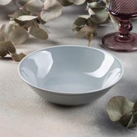 Салатник «Акварель», 300 мл, цвет светло-серый