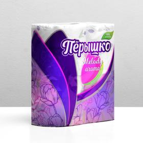Туалетная бумана Перышко Melody белая, 3 слоя 4 рулона