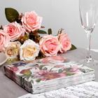 Салфетки бумажные Перышко Prestige пурпур, 3 слоя 20 листов 33х33 - Фото 2