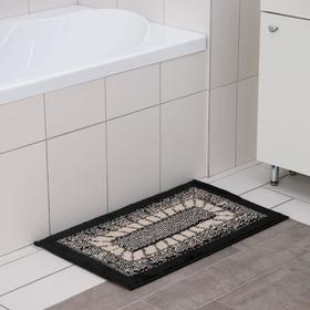 Коврик SHAHINTEX Mosaic, 45×75 см, цвет чёрный