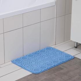 Коврик SHAHINTEX «Актив», 40×60 см, цвет синий