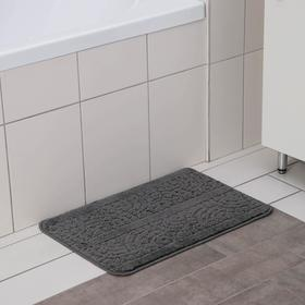 Коврик SHAHINTEX «Актив», 40×60 см, цвет серый