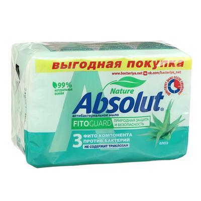 Мыло Absolut Nature «Алоэ», антибактериальное, 4 шт. по 75 г