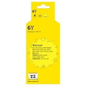 Струйный картридж T2 IC-CBCI-6Y (BCI6Y/BCI 6Y/BCI 6) для принтеров Canon, желтый Ош
