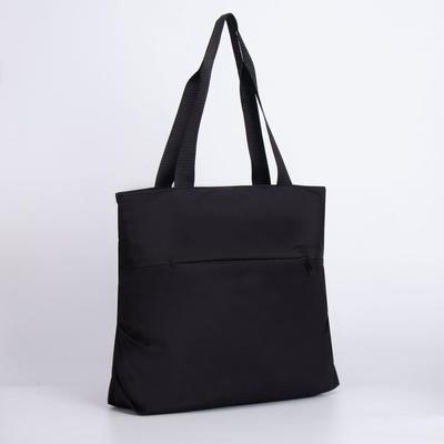 Сумка женская, отдел на молнии, 2 наружных кармана, цвет чёрный - Фото 1