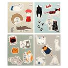 """Тетрадь 48 листов в клетку """"Кото-стикеры"""", обложка мелованный картон, выборочный УФ-лак, блок офсет, МИКС - Фото 1"""