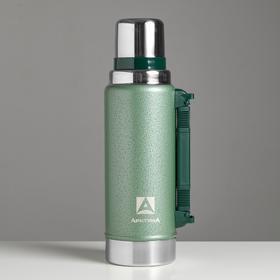 """Термос вакуумный """"Арктика"""" 1250 мл, 106-1250P, зелёный, сохраняет тепло 40 ч"""