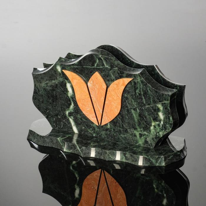 """Визитница """"Тюльпан"""", 220х90х120 мм, змеевик"""
