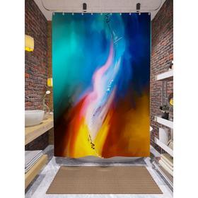 Штора для ванной «Игра цвета», размер 180х200 см