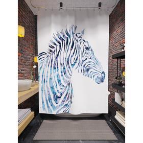 Штора для ванной «Силуэт зебры», размер 180х200 см