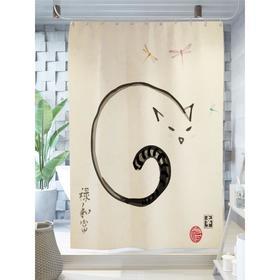 Штора для ванной «Хвост спящего кота», размер 180х200 см