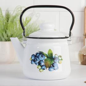 Чайник 1,5 л, эмалированная крышка, цвет МИКС