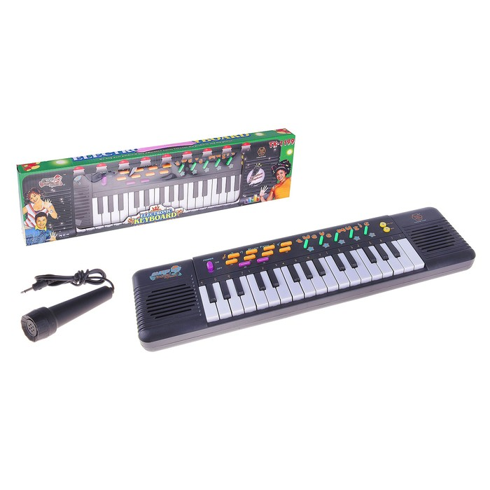 """Синтезатор """"Вечеринка"""" с микрофоном, 32 клавши."""