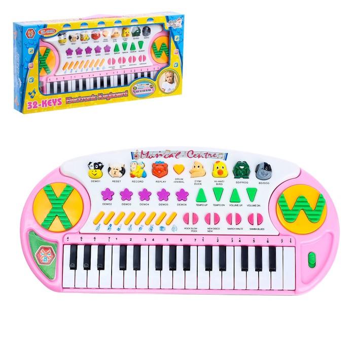 """Синтезатор """"Веселые минуты"""", звуковые эффекты, 32 клавиши."""
