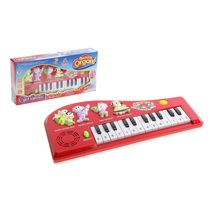 """Пианино детское """"Веселый оркестр"""",звуковые эффекты, работает от 3 батареек типа АА"""