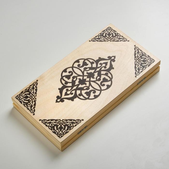 Нарды малые, деревянные фишки, 29х14.5х3.5 см