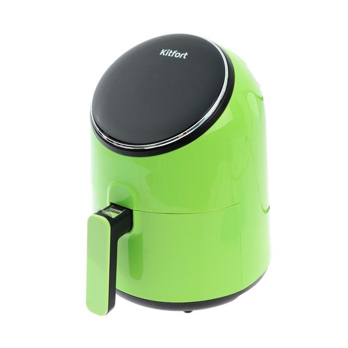 Аэрогриль Kitfort KT-2206-3 Eva, 1300 Вт, 80-200°C, 2.5 л, зелёная