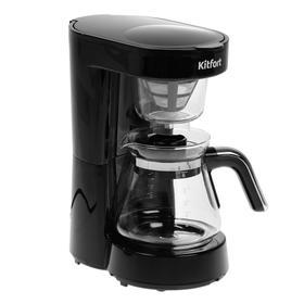 Кофеварка Kitfort KT-759, капельная, 700 Вт, 0.75 л, серебристо-чёрная Ош