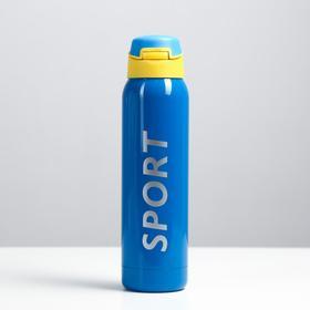 "Термос ""Спорт"" с поильником, 500 мл, 5.5х23 см, синий"