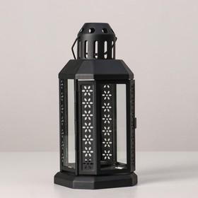 """Подсвечник """"Фонарь"""" для чайной свечи ЭНРУМ, 22 см, черный"""
