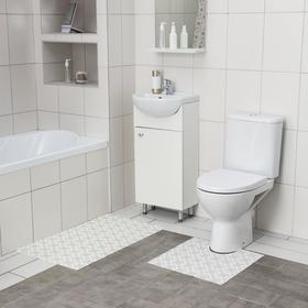 Набор ковриков для ванны и туалета Вилина, 2 шт: 50×52, 50×85 см