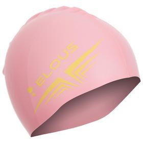 Шапочка для плавания Elous, однотонная EL005, силиконовая, цвет розовый Ош