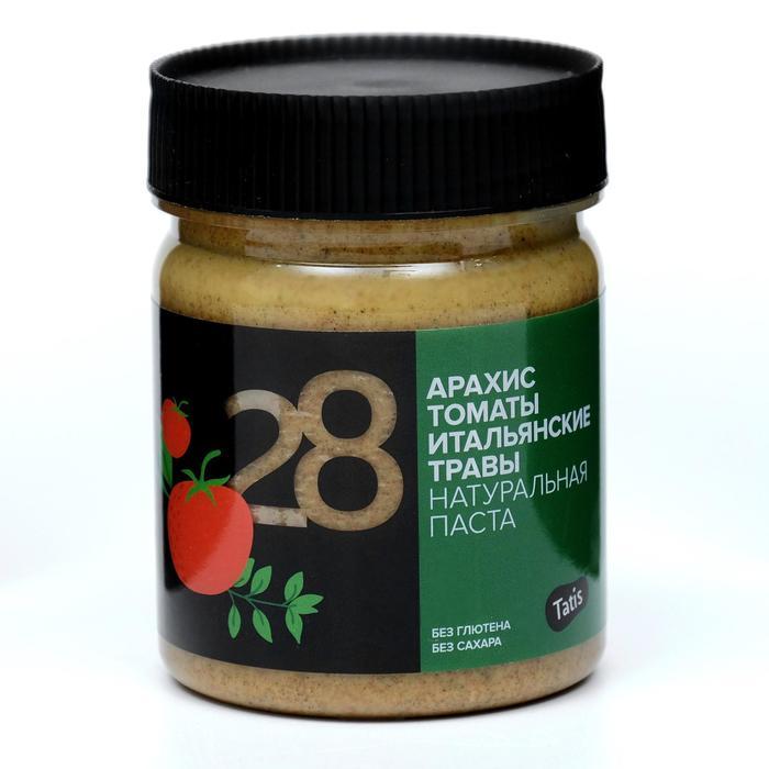 """Арахисовая паста """"Tatis"""" с томатами и итальянскими травами, 200 г"""