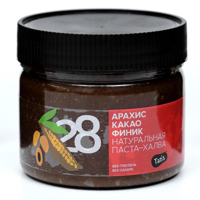 """Арахисовая халва-паста """"Tatis"""" с какао и сиропом фиников, 300 г"""