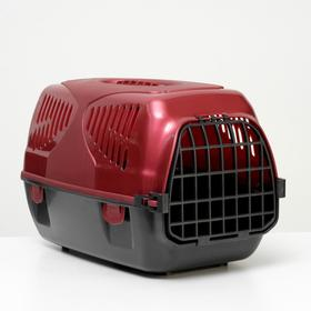 Переноска для животных 'Сириус', 33,5 х 31 х 50 см, красный перламутр Ош