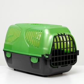 Переноска для животных 'Сириус' 33,5 х 31 х 50 см, зеленый перламутр Ош