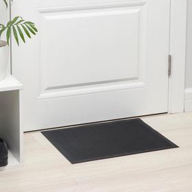 Коврик придверный резиновый Blåbär «Классик», 40×50 см, цвет чёрный
