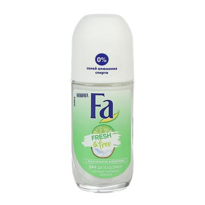 Дезодорант роликовый Fa Fresh & Free, лайм и кокос, 50 мл - Фото 1