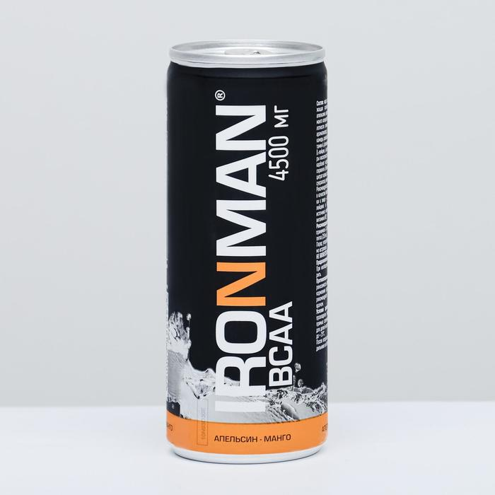Напиток безалкогольный IRONMAN BCAA 4500 мг, апельсин-манго, 250 мл