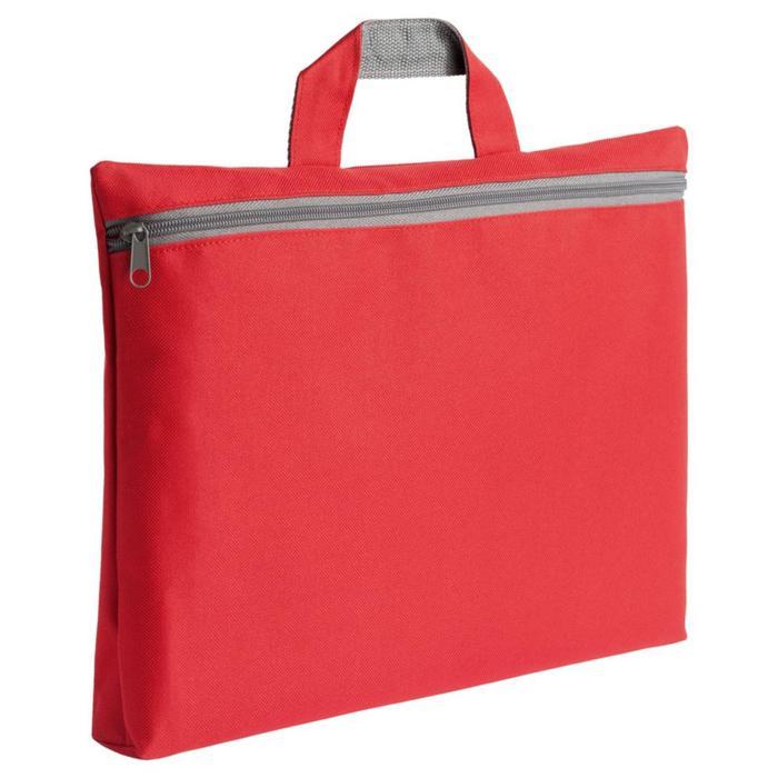 Сумка-папка, отдел на молнии, цвет красный