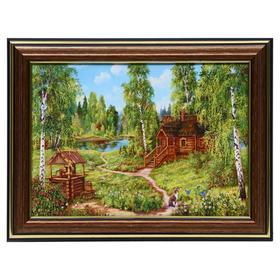 Картина 'Домик у колодца' 13х18 (16х21) см Ош