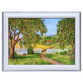 Картина 'В летнем саду' 13х18 (16х21) см Ош