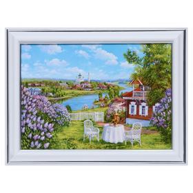 Картина 'Чаепитие в саду' 13х18(16х21) см Ош