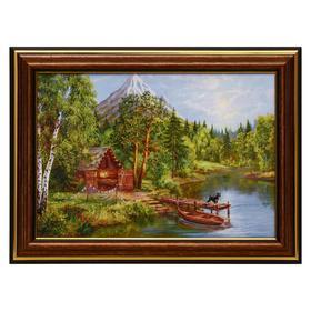 Картина 'Домик у горной реки' 13х18(16х21) см Ош