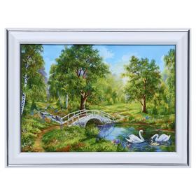 Картина 'Лебеди у моста' 13х18(16х21) см Ош