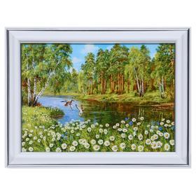 Картина 'Ромашки у озера' 13х18(16х21) см Ош