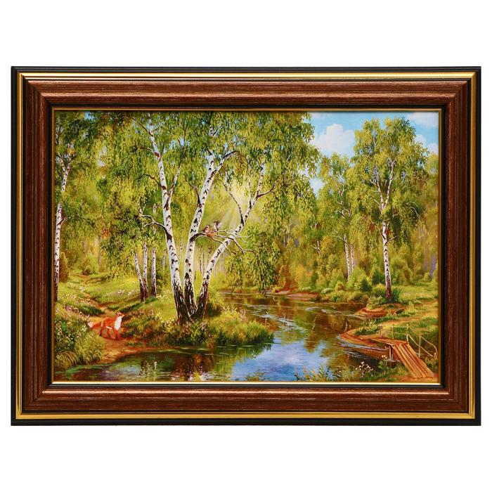 Картина Берёзки у реки 13х1816х21 см